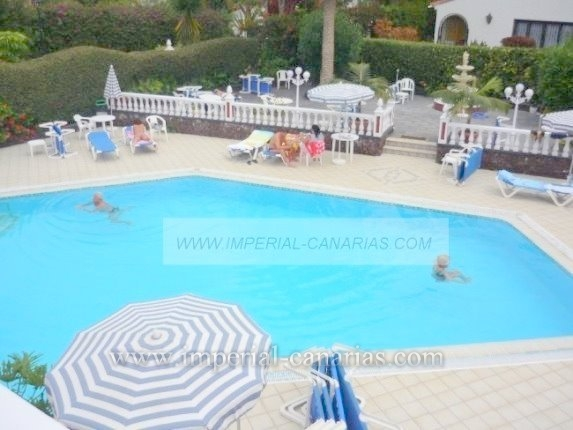 Sunny studio in building with heated pool and tropical gardens