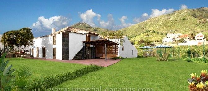 Kanarisches Haus in barranco Agua de Dios  -  Wunderschönes Landhotel in einer Naturbeschützten Lage.