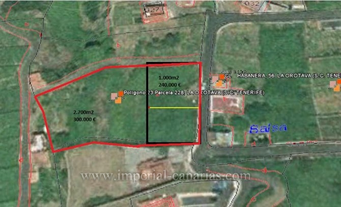 Developable plot in high part of La Orotava.