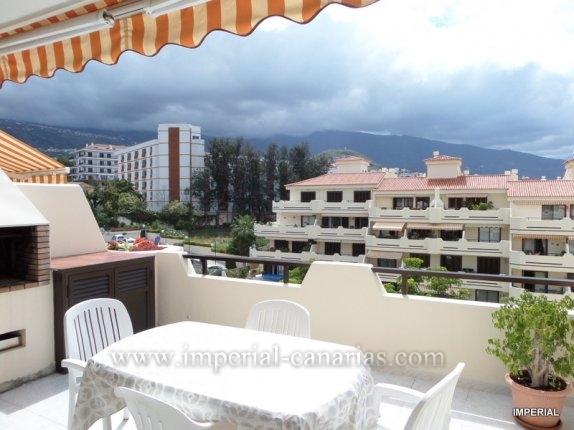 Penthaus in La Asomada  -  Schöne Penthouse Wohnung mit zwei Schlafzimmer, mit grosser Terrasse in einer Wohnanlage mit Schwimmbecken und Tennisplatz.