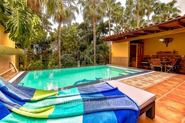 Doppelhaushälfte in Loro Parque  -  Hervorragendes Doppelhaus in der Nähe von Loro Parque. Umgeben von Palmen und Gärten sind nur die Vögel und Papageien zu hören.